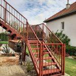 bránička na mieru a exteriérové schody na mieru